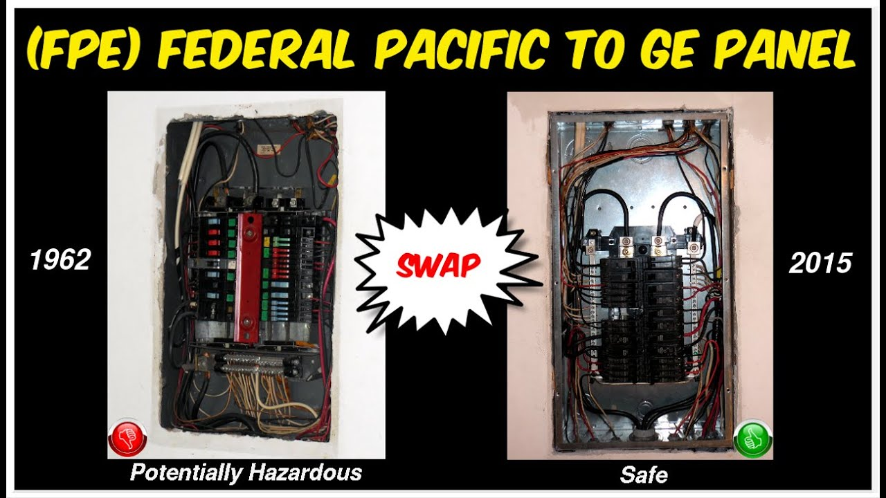 Replacing 1962 Federal Pacific Breaker Panel Fpe Zinsco With Ge 200 Box Wiring Diagram 30 Old Fuse Single Pole