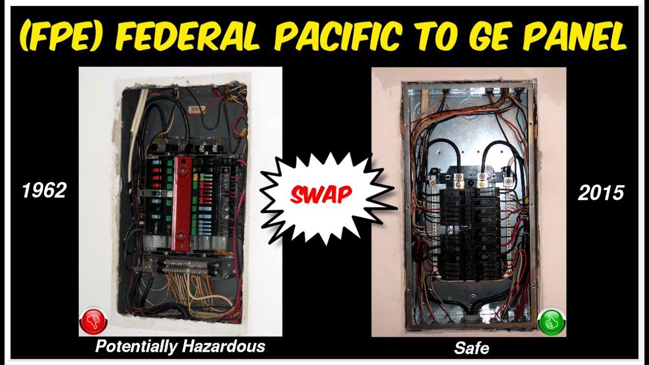 Upgrade 100 Amp Fuse Box To Circuit Breakers Replacing 1962 Federal Pacific Breaker Panel Fpe Zinsco