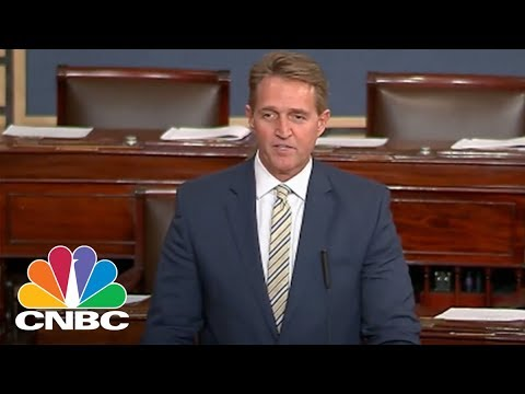 Senator Jeff Flake Delivers Searing Condemnation Of President Donald Trump's War On The Press | CNBC