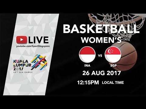 Basketball 🏀 Womens Indonesia 🇮🇩 vs 🇸🇬 Singapore | 29th SEA Games 2017