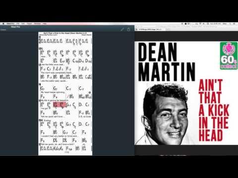 Ain't That Kick in the Head Chords at MyPartitur - Dean Martin