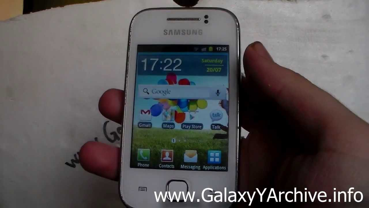 Full details of Samsung Galaxy Y S5360