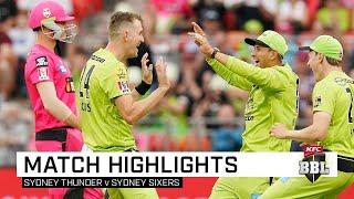 Thunder beat the Sixers, rain in Sydney | KFC BBL|09