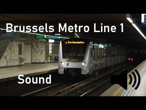 ▶️ Sounds of Transit #18: Brussels Metro Line 1