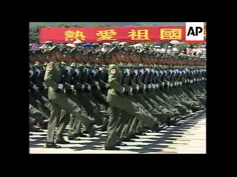 China holds its first military parade in Hong Kong