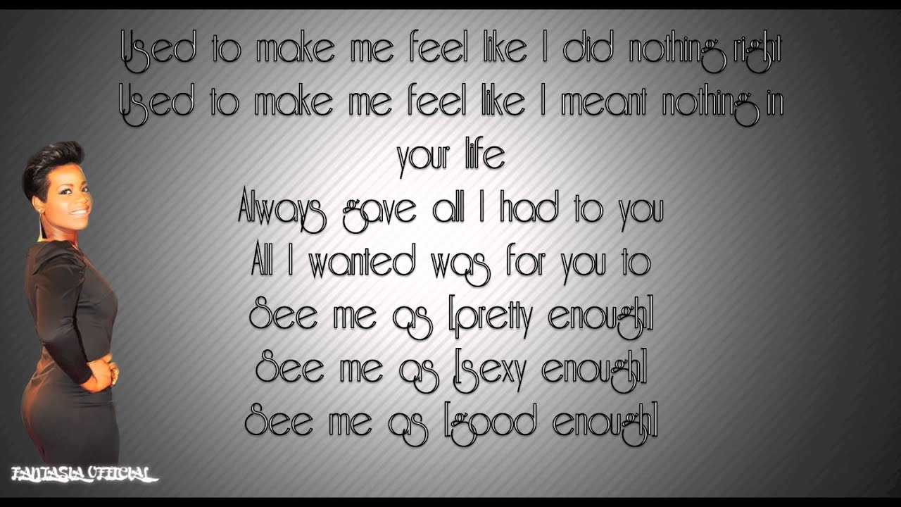 Fantasia - I Feel Beautiful [HD] Lyrics - YouTube