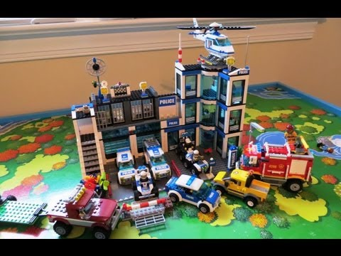 LEGO CITY POLICE STATION ACTION FOR KIDS, BY KIDS - YouTube