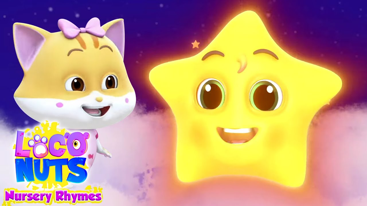 Twinkle Twinkle Little Star | Nursery Rhymes and Baby Song | Kids Songs with Loco Nuts