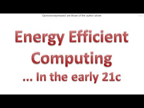 Energy Efficient Computing - 1nov14
