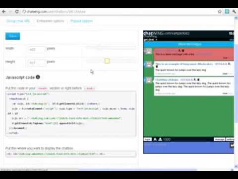 Create Account | Get Your Html5 Chat Room Widget Code And Add It To Your Websites