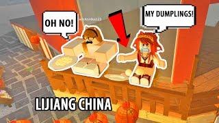 ¡VIAJAMOS A LA CHINA DE LIJIANG! Roblox World Expedition! Juego de rol de Roblox ? Roblox Funny Moments