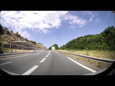 driving over the highest bridge of europe