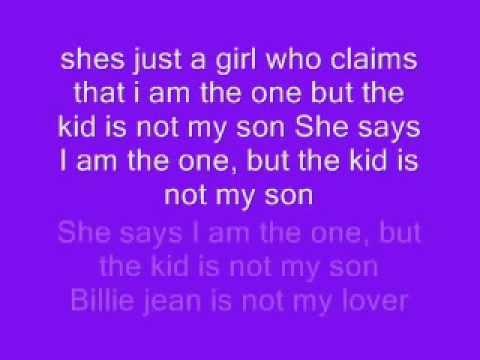 Billie Jean with lyrics
