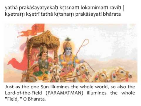 Image result for bhagavad gita chapter XIII, text 34