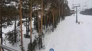 Подъёмник Очень красивый горнолыжный курорт