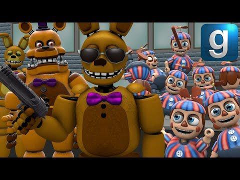 Download Gmod Fnaf Spring Bunny And Fredbar Fight The