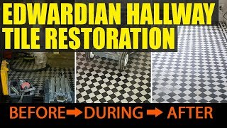 Edwardian Hallway Tile Restoration Wombwell near Barnsley