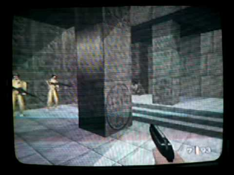 Goldeneye, 00 Agent Aztec, owning with the PP7.