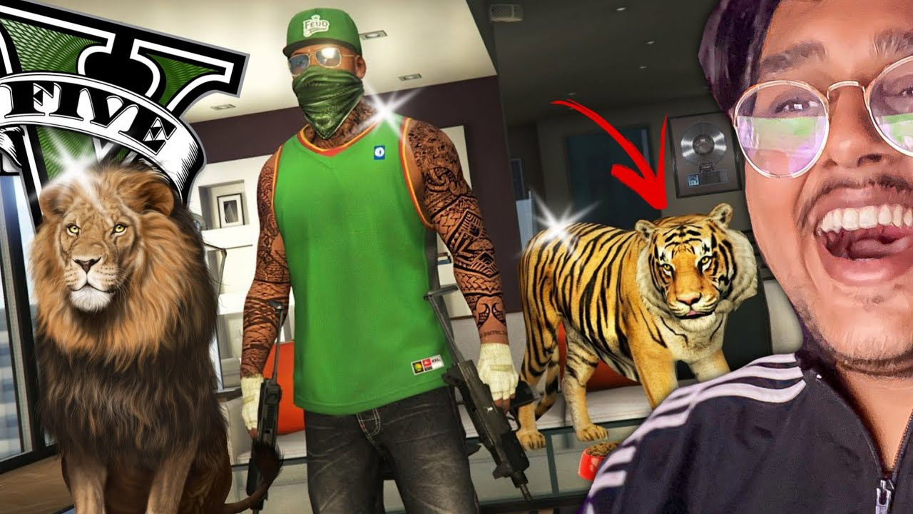 GTA 5 : BUYING NEW LION PET | GTA V GAMEPLAY IN HINDI