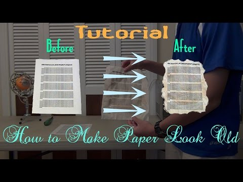 How to Make Paper Look Old (no oven)