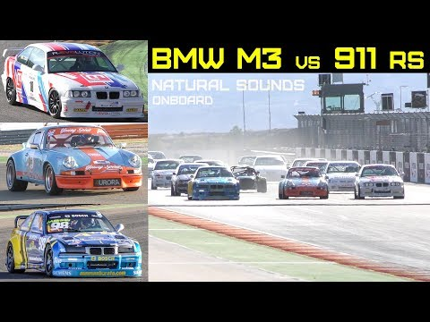 PORSCHE vs BMW - Sports cars race w/ 6-Cylinder Engines [pure sound] Onboard Video 2018 #3