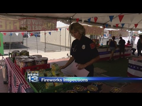 Fire marshal inspectors check out firework stands around Albuquerque