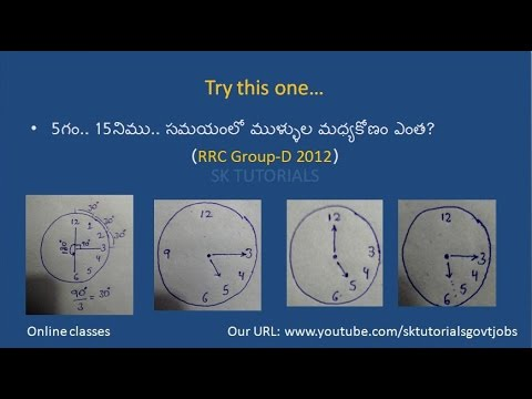 CLOCKS.Only 1 Trick to do total problems.Telgu.online class