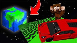 FAKİR UZAY RAMPASINDAN ARABAYLA ATLADI! 😱 - Minecraft
