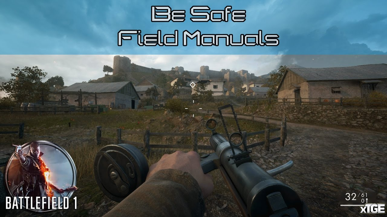 Battlefield 1 - All Field Manual Locations In \u0027Be Safe\u0027 (The Runner