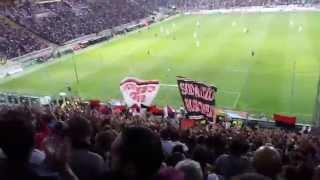 """Parma-Milan 4-5 """"ALE ALE ALE MILAN ALE...""""curva sud milano"""