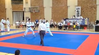 Sonny Roberts GBR (Aka) v Hiromichi Hirasawa JPN (Shiro) - Team Kumite