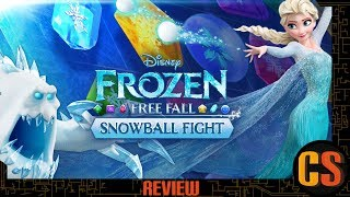 FROZEN FREE FALL SNOWBALL FIGHT - PS4 REVIEW (Video Game Video Review)