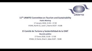 11th UNWTO Committee on Tourism and Sustainability (CTS) – Public Meeting