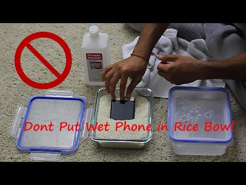 Why You Should Never Put Water Damaged Phone In Rice Bag Or Silica Gel