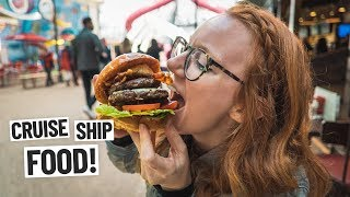 The BIGGEST BURGER EVER + Our First Port Day in Mallorca, Spain! (Symphony of the Seas Cruise Day 2)