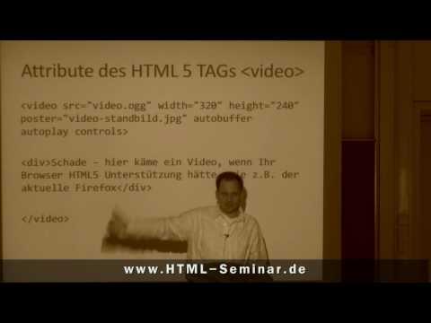 Video über HTML5 Einbinden - Www.HTML-Seminar.de