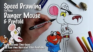 Speed Drawing The New Danger Mouse and Penfold from CBBC