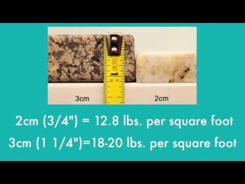 How Much Does Granite Weigh Youtube