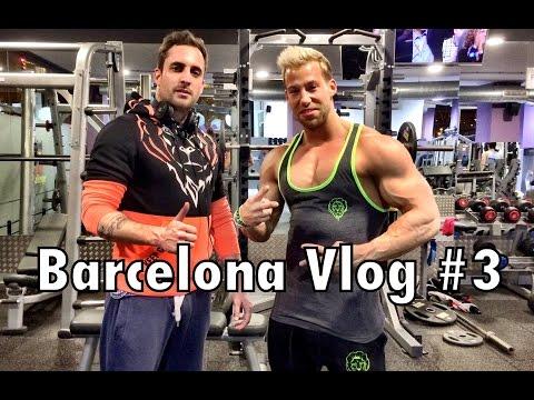 Barcelona Vlog #3 -  Ins Gym gescammt - 5x5 Bankdrücken mit 117Kg