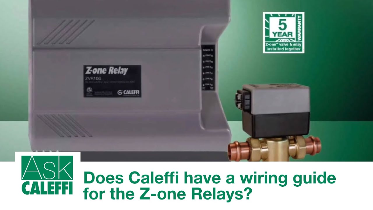Caleffi Zone Valve Wiring Diagram Blog About Diagrams Aquastat Old Does Have A Guide For The Z One Relays Youtube White Rodgers