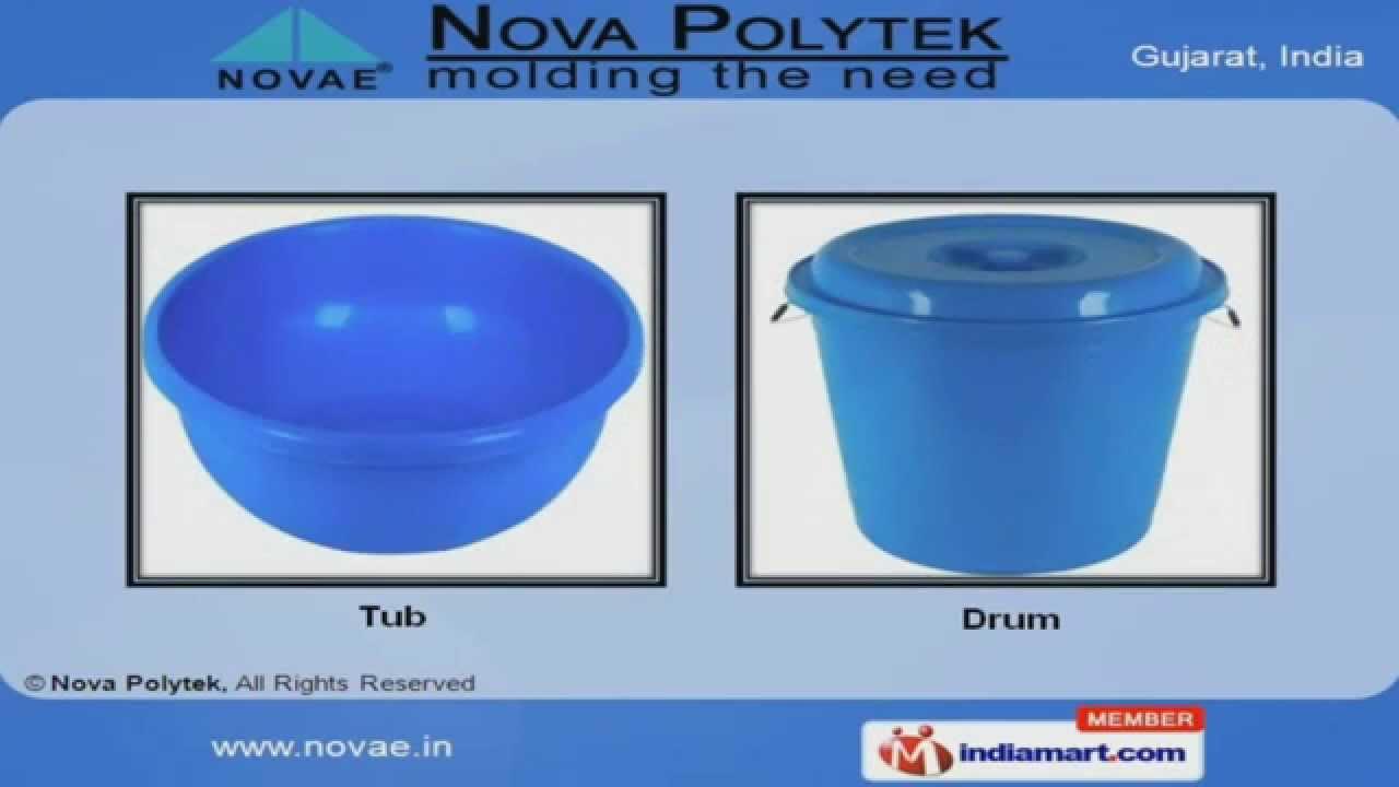 Plastic Buckets by Nova Polytek, Gujarat