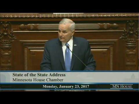 Gov Dayton State Of The State Address- Full Speech And His Collapse