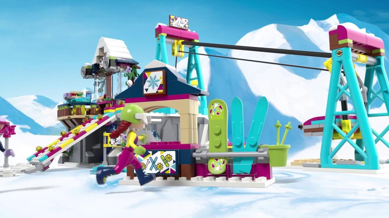 Lego Friends Snow Resort Ski Lift 41324 Youtube
