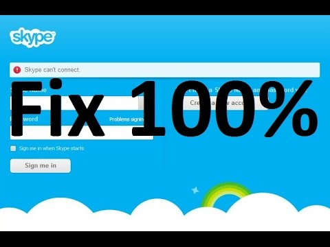 How to fix skype can't connect problem 2014 In Window 8 / 7 & 10