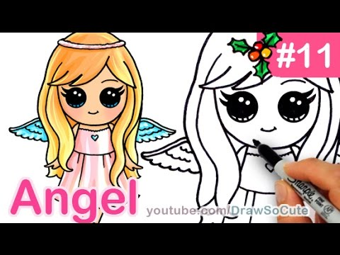 How To Draw An Angel Cute Anime Step By Step Christmas Special Youtube