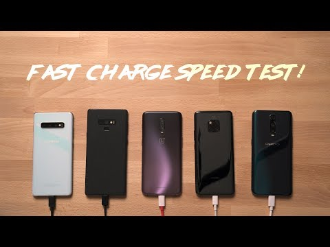 Galaxy S10 Plus vs Note 9 vs Mate 20 Pro vs OnePlus 6T vs Oppo R17 Pro Charge Speed Test!