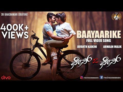 Face 2 Face - Baayaarike (Video Song) | Rohith, Divya, Purvi | Armaan Malik | Jayanth Kaikini