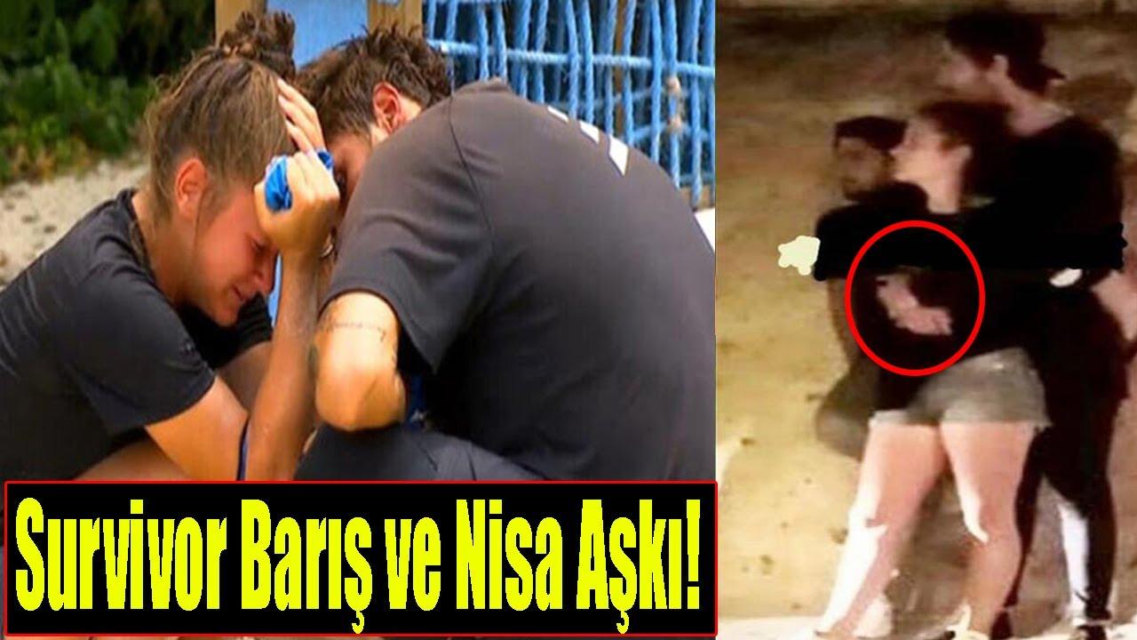 Survivor Barış Murat Yağcı ve Nisa Bölükbaşı Sarmaş Dolaş  Yakalandı?(Survivor Barış ve Nisa Aşkı) - YouTube