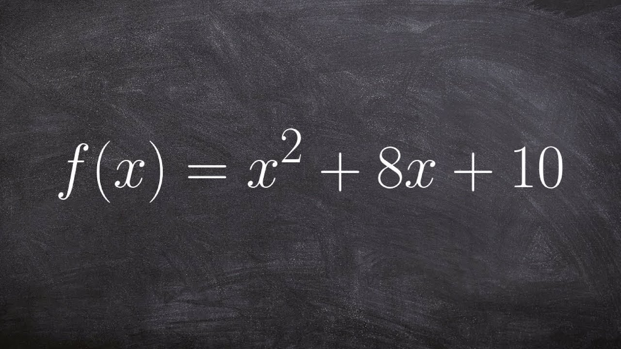 How To Write An Equation In Vertex Form And Find The Vertex Youtube