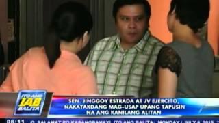 Sen. Jinggoy Estrada at JV Ejercito, nakatakdang mag-usap upang tapusin ang alitan